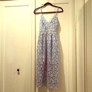 ASTR the Label Lavender Lace Midi Dress